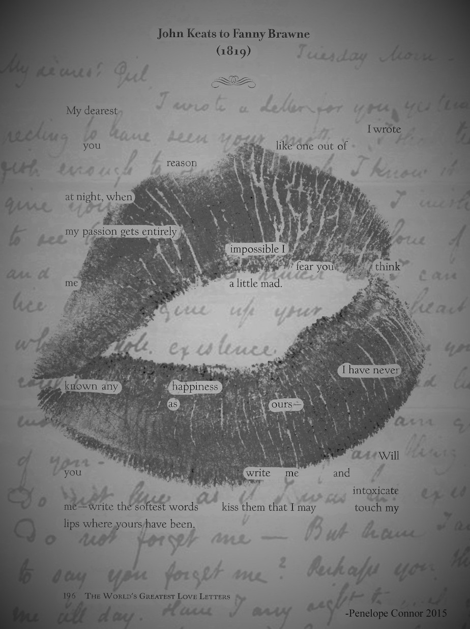 Kiss the Words  (an erasure poem)